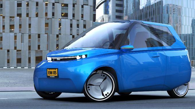 Klein, leicht und recyclebar ist das von der TU/ecomotive Eindhoven entwickelte Konzeptauto Noah.