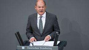 Opposition kritisiert Finanzminister: Scholz verteidigt umstrittenen Haushaltsentwurf