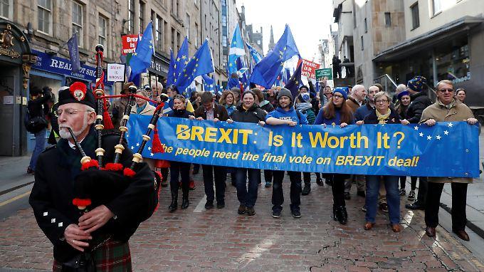 Wie wird es Schottland nach dem EU-Austritt im Königreich ergehen? In Edinburgh stößt Mays Brexit-Plan auf Ablehnung.