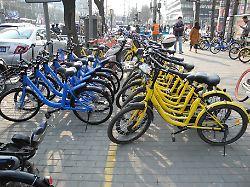 China: Das Königreich der Radler: Leihfahrräder sind nicht mehr wegzudenken