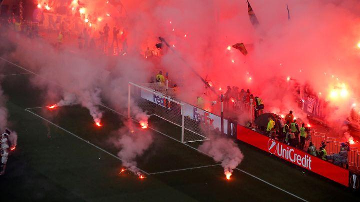 Es wurde mächtig gezündelt im Marseille-Block.
