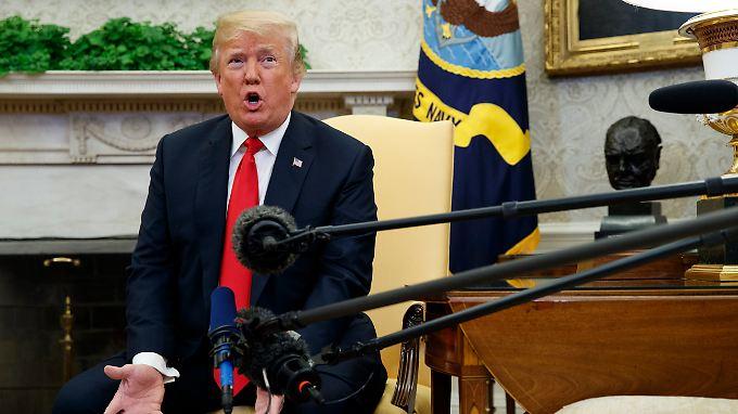 Wenn mit Nordkorea kein Abkommen zustande kommt, nur dann würde das Libyen-Modell ins Spiel kommen, sagt Trump.