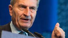 Irreführende Haushaltszahlen: EU-Parlament stellt Oettinger zur Rede