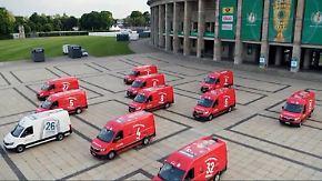 Kuriose PR-Aktion vor Pokalfinale: FCB schickt Vans mit mutmaßlicher Aufstellung los