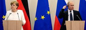 Treffen mit Merkel: Putin spielt den Ökonomen