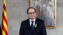 Minister sitzen in Haft: Katalanen-Präsident provoziert Madrid