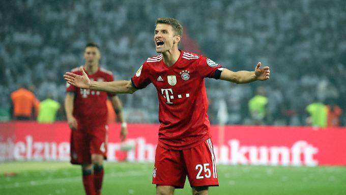 Extrem bitter, sagt Müller über den nicht gegebenen Elfmeter in der Nachspielzeit.