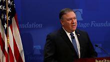 """""""Härteste Sanktionen"""": Pompeo macht Iran Kampfansage"""