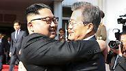 Überraschungstreffen im Grenzgebiet: Südkorea entspannt Konflikt zwischen Kim und Trump