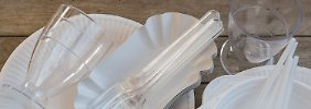 EU-Kommission gegen Plastikmüll: Einweggeschirr soll verboten werden