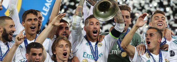 Der Käpt'n hat den Pott: Sergio Ramos.