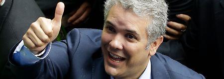 Er ging aus der ersten Runde als Sieger hervor: der konservative Kandiat Iván Duque.