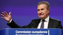 Kommissar entschuldigt sich: Oettinger-Zitat bringt Italiener in Rage