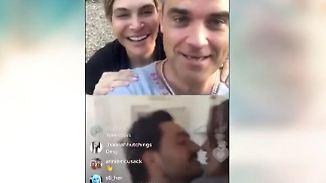 Hilfe bei Heiratsantrag: Robbie Williams spielt per Videoanruf Amor