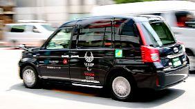 Das JPN-Taxi hat ein steiles Heck und ein hohes Dach - ähnlich wie das London-Taxi.