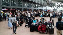 Flugausfälle auch Montag: Am Hamburger Airport geht nichts mehr