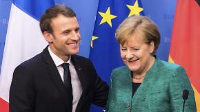 Vorschläge für ein neues Europa: Merkel antwortet auf Macrons EU-Reformpläne