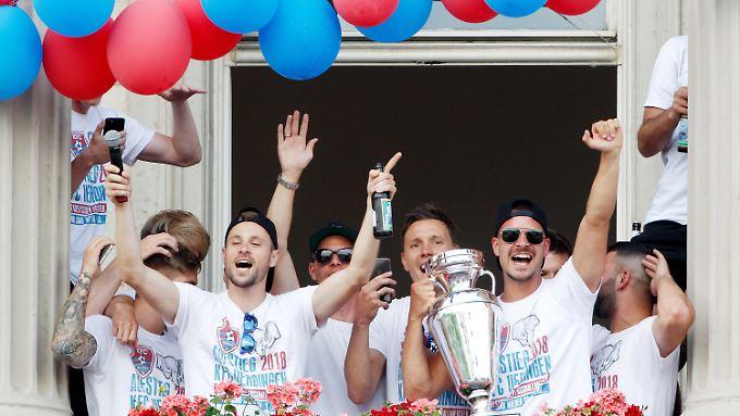 Eine Aufstiegsfeier hat der KFC Uerdingen in dieser Saison bereits hinter sich.