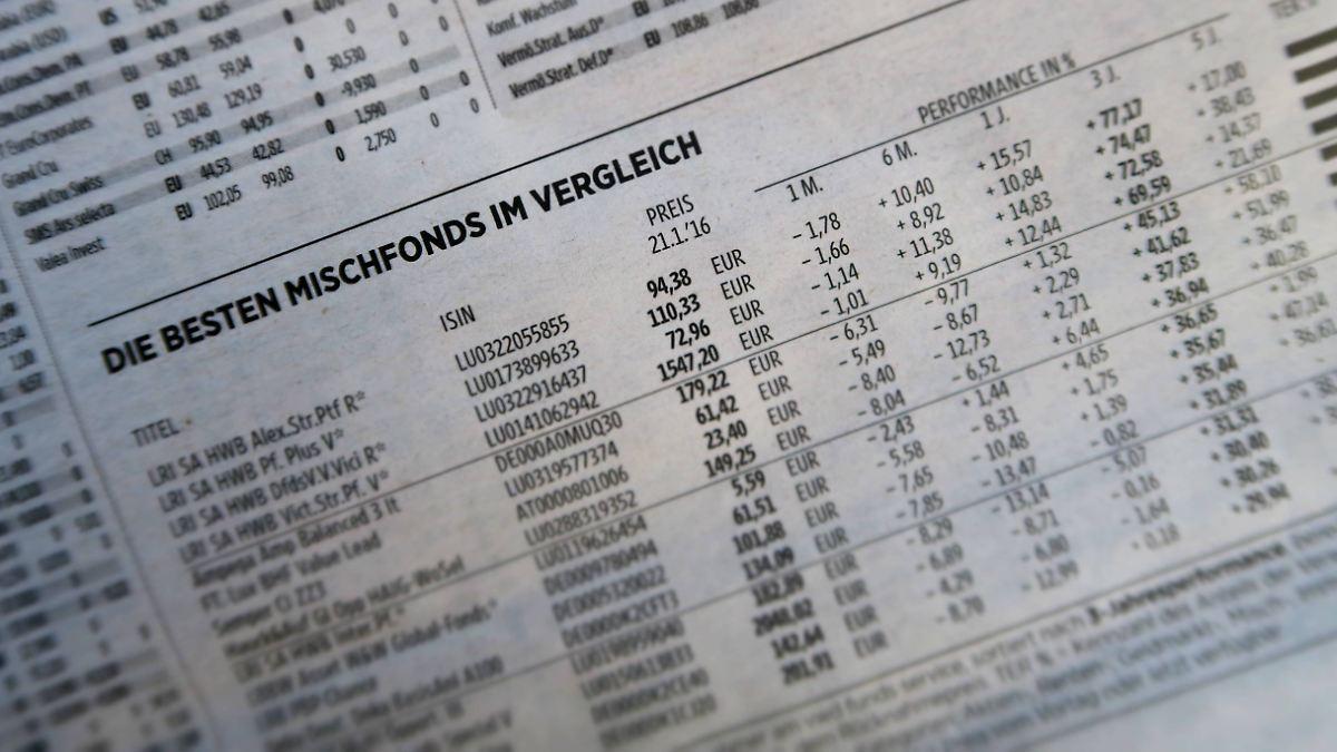 Wie rentabel sind Mischfonds?