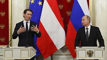 Zu Besuch bei Freunden: Kurz hofiert Putin