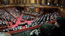 Vertrauensabstimmung gewonnen: Italiens Senat stellt sich hinter Regierung