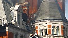"""London: Großbrand in Luxushotel: Augenzeugin: """"Es war entsetzlich"""""""