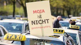 Der Widerstand bei Taxifahrern ist groß.