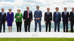 Juncker setzt auf Dialog: Handelsstreit lähmt G7-Gipfel