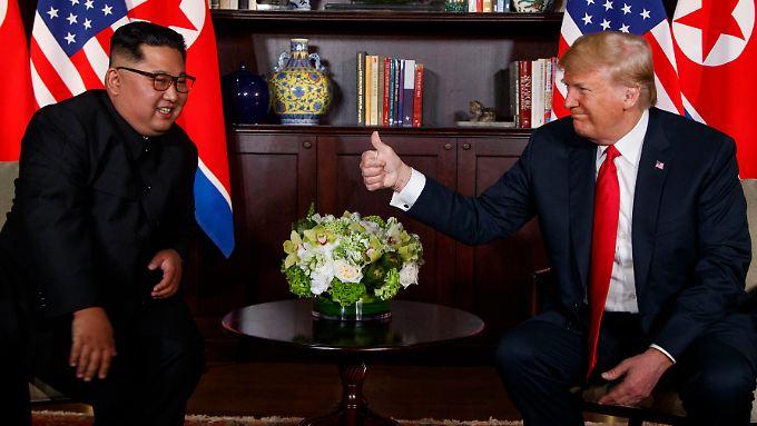 Die Gespräche zwischen Kim Jong Un und Donald Trump scheinen positiv verlaufen zu sein.