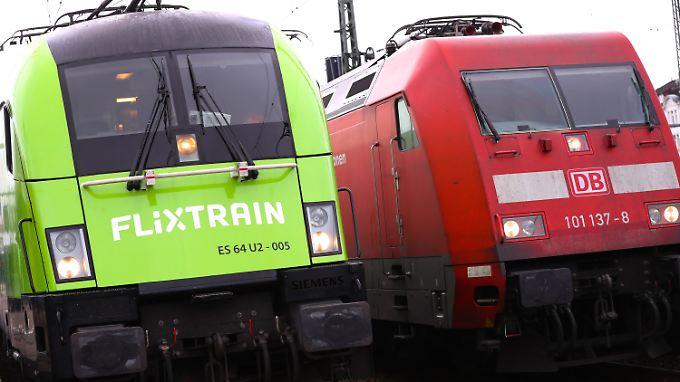 Flixtrain greift die Deutsche Bahn bislang vor allem beim Preis an.