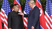 Die Entspannung nach Trumps und Kims Begegnung in Singapur zeigt Wirkung: Nordkoreas Machthaber versprach dem US-Präsidenten die Rückgabe der toten Soldaten.