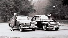 Den Modellauftakt in Deustchland machte Volvo mit dem P122 und dem PV544 Buckel-Volvo.