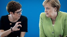 Streit mit der Schwesterpartei: AKK bittet CDU-Basis um Unterstützung
