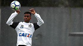 Der nächste Neymar? Stürmer-Talent Rodrygo kommt vom FC Santos zu Real Madrid.