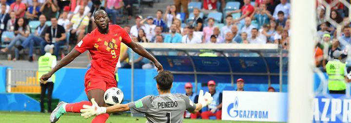 ... in der 75. Minute ist er dann auf und davon und ließ Keeper Penedo per Chip keine Chance.