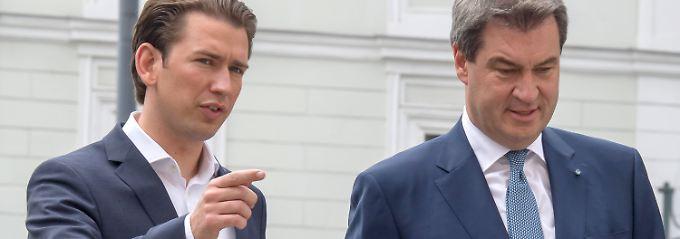 """""""Gemeinsame Haltung im Geiste"""": Söder und Kurz im kleinen Grenzverkehr"""