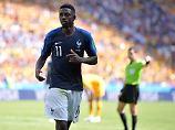 Frankreichs Ousmane Dembélé wird beim zweiten WM-Spiel gegen Peru wohl zunächst auf der Bank sitzen.
