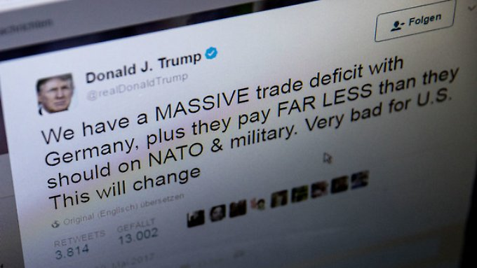 Anders als die meisten Nutzer, twittert US-Präsident Trump ganztägig emotional.