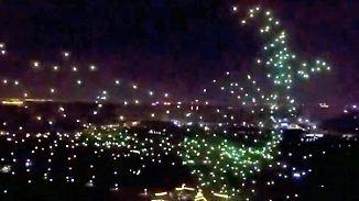 Feuerwerk 2.0: 1400 Drohnen erhellen chinesischen Nachthimmel