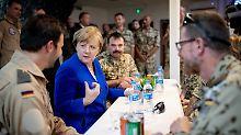 Kanzlerin bei der Bundeswehr: Als Seehofer Merkel in der Wüste anrief
