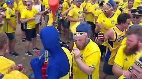 """""""Midsommar"""" in Sotschi: Schweden-Fans zeigen sich schon in Feierlaune"""