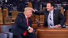 Haarige Angelegenheit: Donald Trump rechnet mit Jimmy Fallon ab