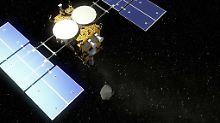 Hüpfende Landebox an Bord: Asteroiden-Sauger erreicht Ziel im All