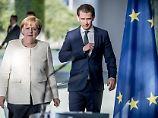 Asyl-Streit in der Union: Kurz sieht Merkel nicht in Gefahr