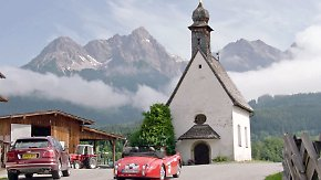 Funkelndes Blech in Kitzbüheler Alpen: Rallye-Prominenz strahlt mit Oldtimern um die Wette
