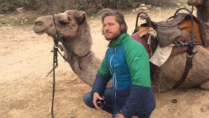 Anfreunden mit Wüstenbewohnern: Sebastian Ströbel in Israel