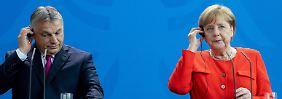 Asylstreit in Europa: Merkel und Orbán sind sich einig uneinig