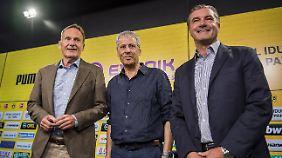 Mit Favre steht auch die BVB-Führung nach zuletzt glückloser Trainerpolitik unter Zugzwang.