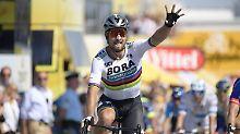 Massensturz auf 2. Tour-Etappe: Sagan gewinnt, Defekt stoppt Kittel