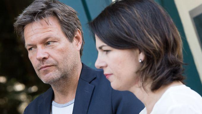 """""""Die CSU will eine Destabilisierung"""", sagt Grünen-Chef Robert Habeck - hier mit Co-Chefin Annalena Baerbock."""